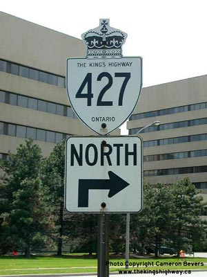 HWY 427 ROUTE MARKER - © Cameron Bevers