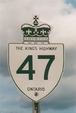 HWY 47 ROUTE MARKER - © 1997-2018 Roger Fox