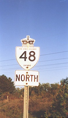 HWY 48 ROUTE MARKER - © Cameron Bevers