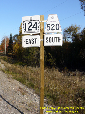 HWY 520 ROUTE MARKER - © Cameron Bevers