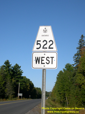 HWY 522 ROUTE MARKER - © Cameron Bevers