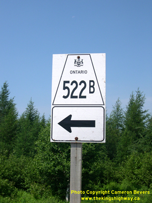 HWY 522B ROUTE MARKER - © Cameron Bevers