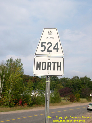 HWY 524 ROUTE MARKER - © Cameron Bevers