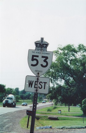 HWY 53 ROUTE MARKER - © Cameron Bevers
