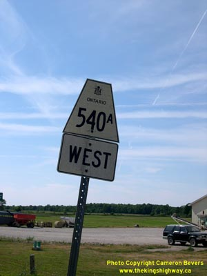 HWY 540A ROUTE MARKER - © Cameron Bevers