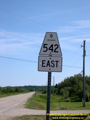 HWY 542 ROUTE MARKER - © Cameron Bevers