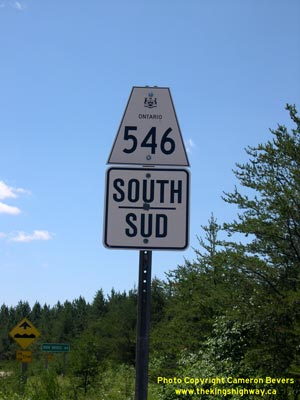 HWY 546 ROUTE MARKER - © Cameron Bevers