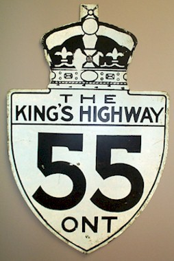 HWY 55 ROUTE MARKER - © Cameron Bevers