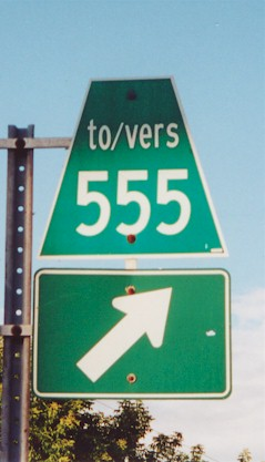HWY 555 SIGN - © Cameron Bevers