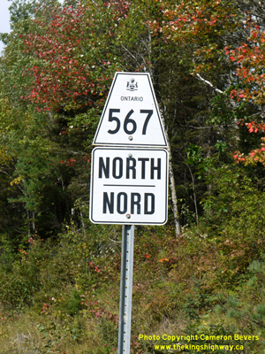 HWY 567 ROUTE MARKER - © Cameron Bevers
