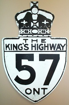 HWY 57 ROUTE MARKER - © Cameron Bevers