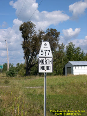 HWY 577 ROUTE MARKER - © Cameron Bevers