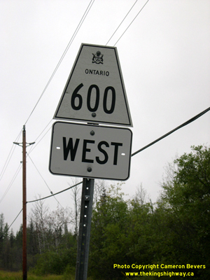 HWY 600 ROUTE MARKER - © Cameron Bevers