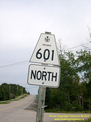 HWY 601 ROUTE MARKER - © Cameron Bevers