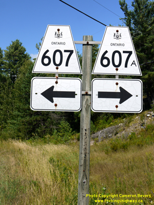 HWY 607A ROUTE MARKER - © Cameron Bevers