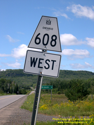 HWY 608 ROUTE MARKER - © Cameron Bevers