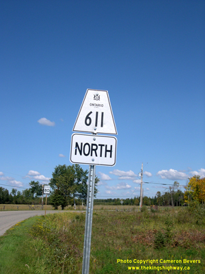 HWY 611 ROUTE MARKER - © Cameron Bevers