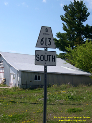 HWY 613 ROUTE MARKER - © Cameron Bevers