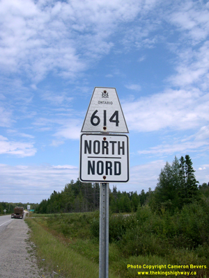 HWY 614 ROUTE MARKER - © Cameron Bevers