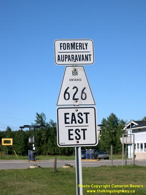 HWY 626 ROUTE MARKER - © Cameron Bevers