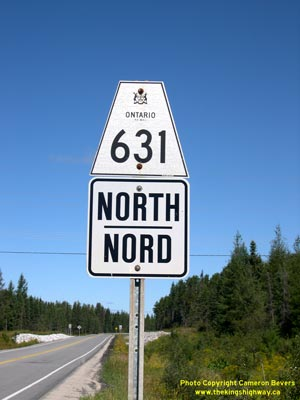 HWY 631 ROUTE MARKER - © Cameron Bevers