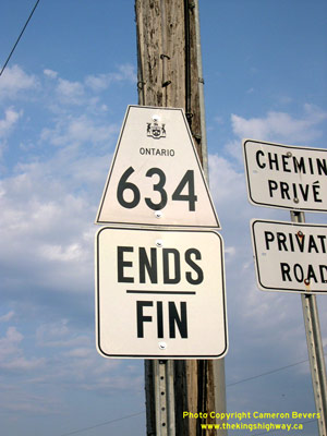 HWY 634 ROUTE MARKER - © Cameron Bevers