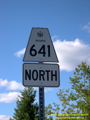 HWY 641 ROUTE MARKER - © Cameron Bevers
