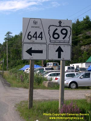 HWY 644 ROUTE MARKER - © Cameron Bevers