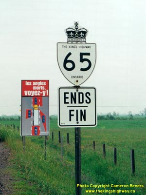 HWY 65 ROUTE MARKER - © Cameron Bevers
