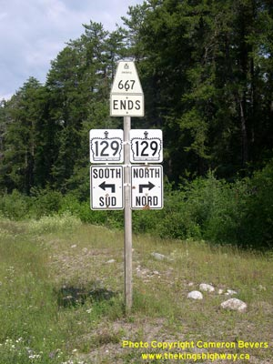 HWY 667 ROUTE MARKER - © Cameron Bevers