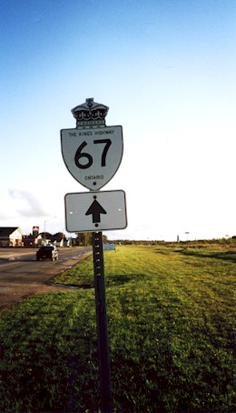 HWY 67 ROUTE MARKER - © Cameron Bevers