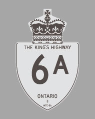 HWY 6A ROUTE MARKER
