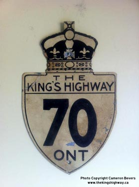 HWY 70 ROUTE MARKER - © Cameron Bevers