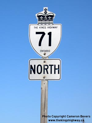 HWY 71 ROUTE MARKER - © Cameron Bevers