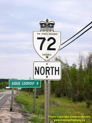 HWY 72 ROUTE MARKER - © Cameron Bevers