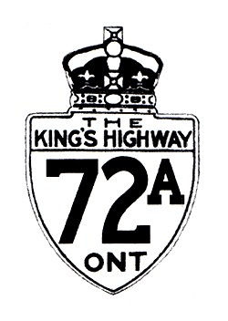 HWY 72A ROUTE MARKER