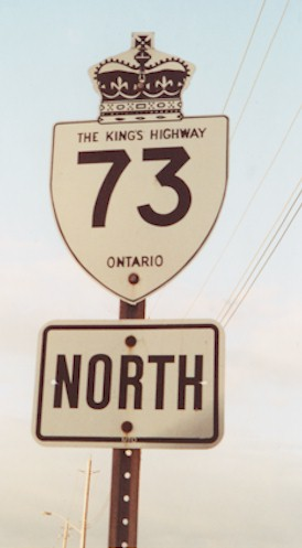 HWY 73 ROUTE MARKER - © Cameron Bevers