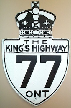 HWY 77 ROUTE MARKER - © Cameron Bevers