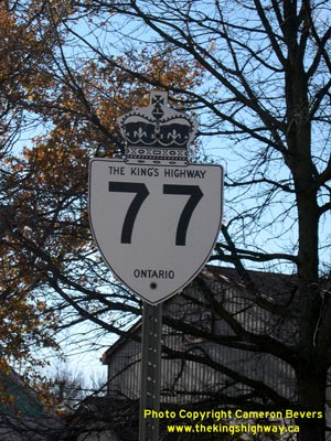 HWY 77 #2 ROUTE MARKER - © Cameron Bevers