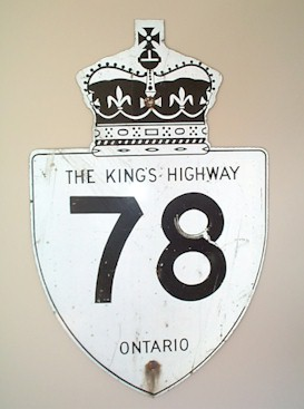 HWY 78 ROUTE MARKER - © Cameron Bevers