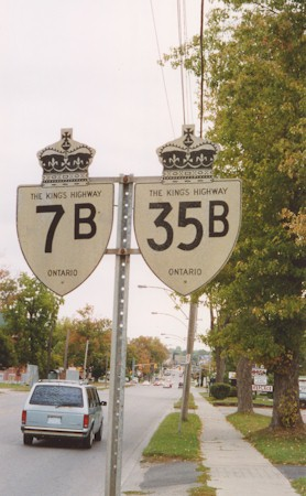 HWY 7B AND HWY 35B ROUTE MARKERS - © Cameron Bevers