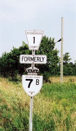 HWY 7B ROUTE MARKER - © Cameron Bevers