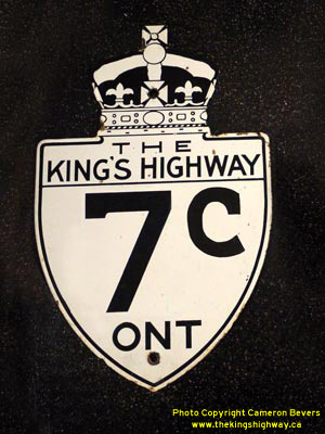 HWY 7C ROUTE MARKER - © Cameron Bevers