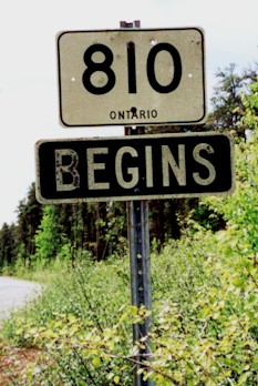 HWY 810 ROUTE MARKER - © Cameron Bevers