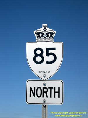 HWY 85 ROUTE MARKER - © Cameron Bevers