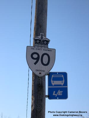 HWY 90 ROUTE MARKER - © Cameron Bevers