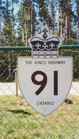HWY 91 ROUTE MARKER - © Cameron Bevers