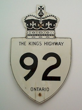 HWY 92 ROUTE MARKER - © Cameron Bevers