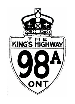 HWY 98A ROUTE MARKER