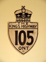 King's Hwy 105 Sign - © Cameron Bevers